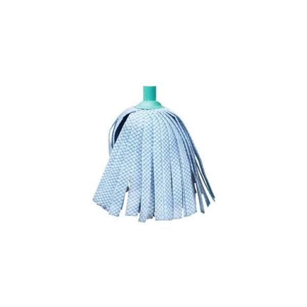 Pótfej kék-kockás 25 cm szálas