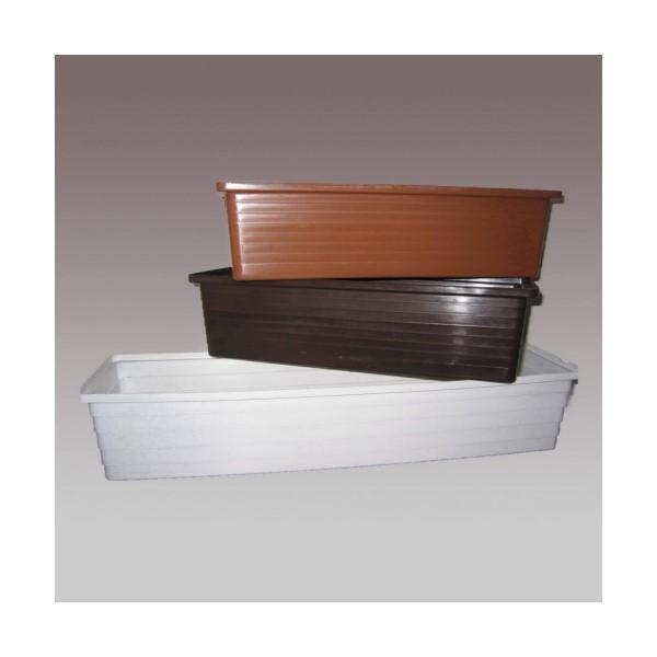 Balkonláda 60 cm barna