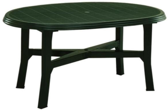 Danubio 110x165 cm zöld asztal