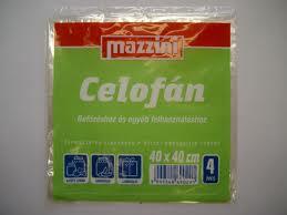 Celofán 40x40 cm/4 ív Mazzini