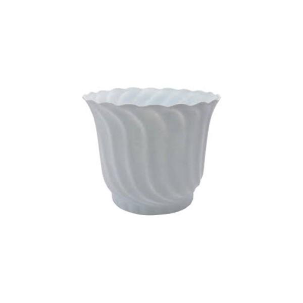 Csavart kaspó 25 cm fehér