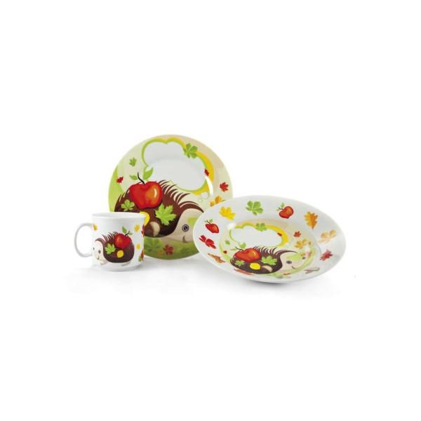 Étkészlet gyerek 3 db porcelán (2 dekor)