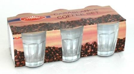 Pohár kávés 160 ml /6 db üveg
