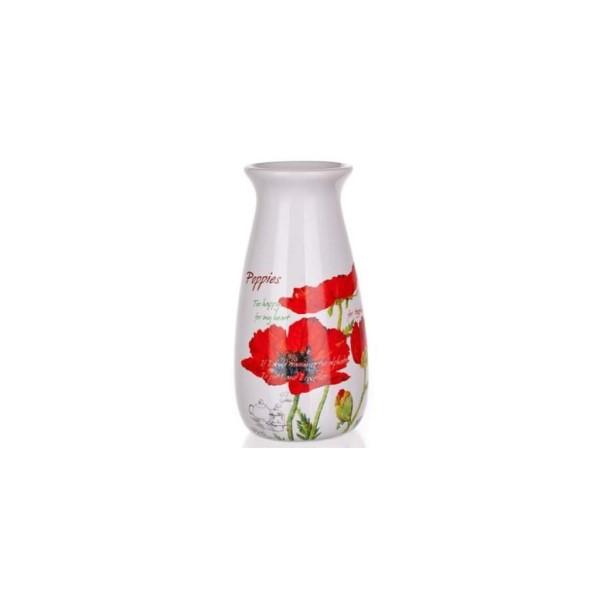 Váza pipacsos 19 cm porcelán