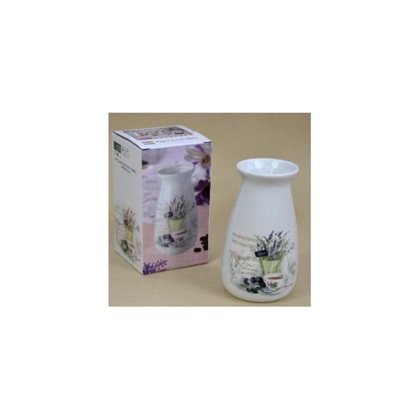 Váza levendulás 20 cm porcelán