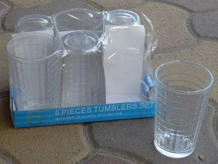 Pohár vizes 2,5 dl/6 db üveg