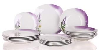 Étkészlet levendulás 18 részes porcelán