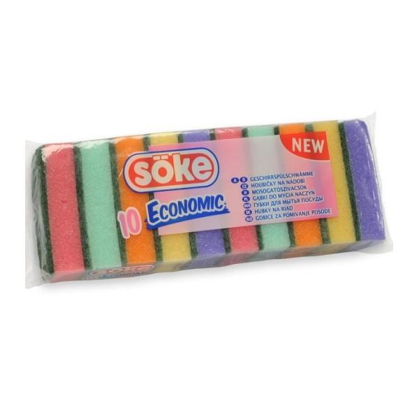 Mosogatószivacs 10 db ECO színes