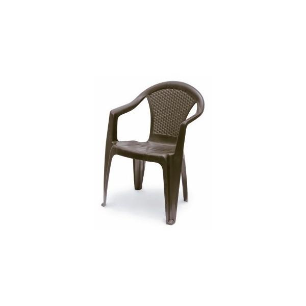 Kora barna szék műrattan alacsonytámlás