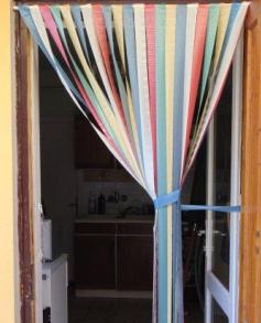 Ajtófüggöny színes szalag 100 cm