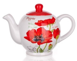 Teakanna pipacsos 1,2 L porcelán